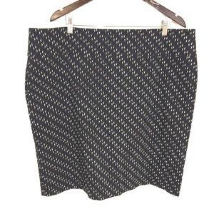margaret m triangle print stretch straight skirt